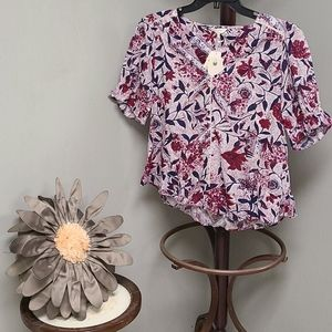Lucky Brand Floral Top size small